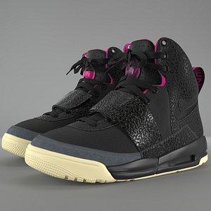 Nike Air Yeezy 1 Blink PBR 3D model