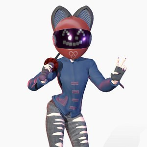 3D KatanaGirl model