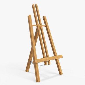 3D wood easel wooden model