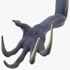 3D model scary creature arm