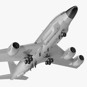 3D Boeing RC-135 Large Reconnaissance Aircraft