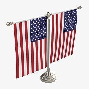 decorative desk flag 3D model