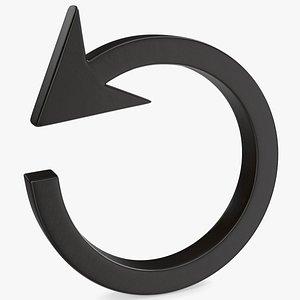 3D icon symbol reload