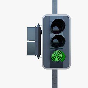 Sydney London Rigged Traffic Lights 3D model