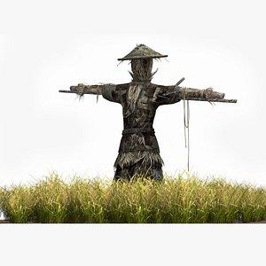 rural scarecrow 3D model