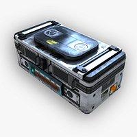C3 - Sci-Fi Energy Box 1 - Low Poly PBR