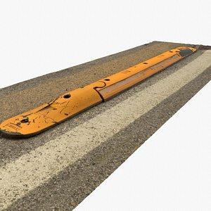 3D model Ultra-realistic street bump 02 hy poly 3D model