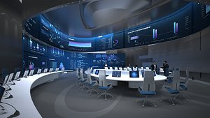 Conference Room, Control Room, Monitoring room, command center 3D