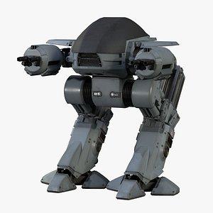 ED 209 OCP Robocop Low-poly 3D model