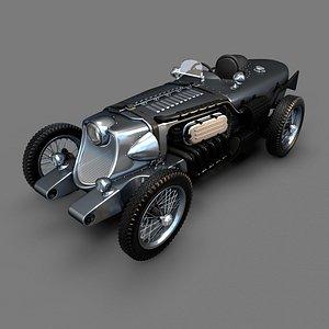 vintage sport car 3D model