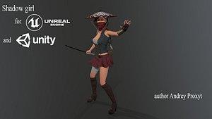 3D Shadow woman