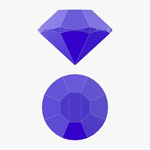 3D Single Gemstone - 3D Printable