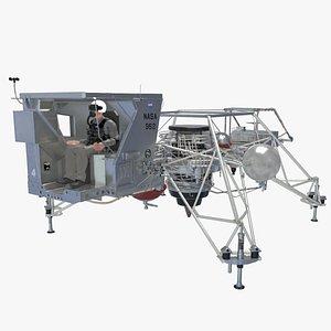 LLRV Flying Bedstead 3D model