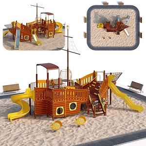Children playground sea schooner 3D model