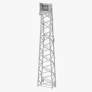 3D crane wa frame 2 model