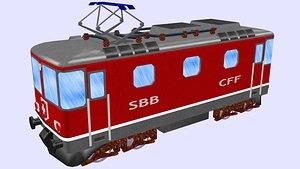 3D 4 electric locomotive model