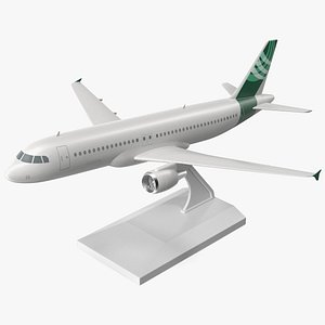 3D Low Wing Jet Airliner Scale Model with Stand model