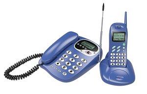 3D telephone phone retro