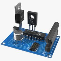 Active Electronics Components on Circuit Board