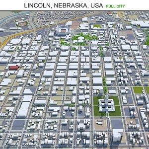 3D Lincoln Nebraska USA