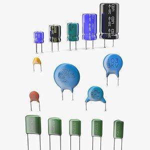 3D capacitors soldered