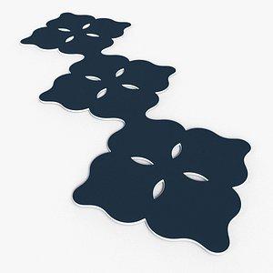 3D Silhouette no 1 carpet