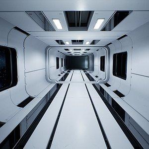 3D modular sci-fi interior model