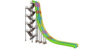Freefall Water Slide 3D model