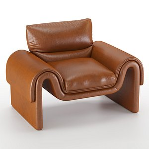 vintage sede leather 3D