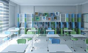 3D classroom class room