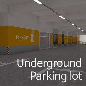 Underground Parking lot 3D model