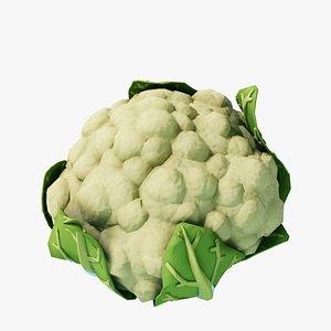 3D Cartoon Cauliflower