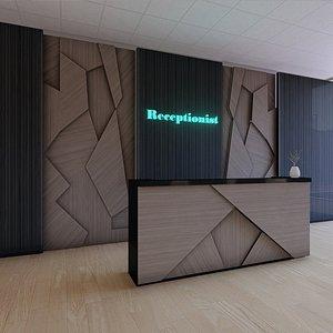 reception counter 3D model