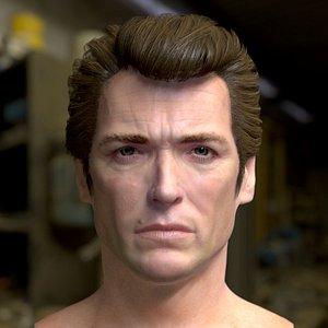 3D model clint eastwood head male