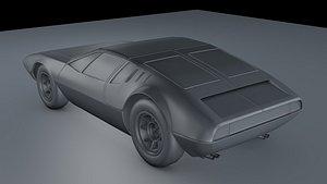 De Tomaso Mangusta 1970 3D