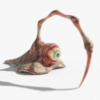 Spine Eyeball Slug, Eyeball Monster with Piercing Weapon