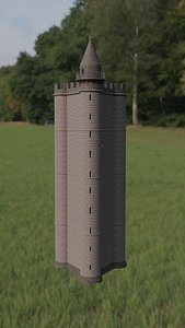 alfred s tower king 3D