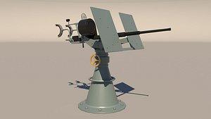 3D model cannon oerlikon