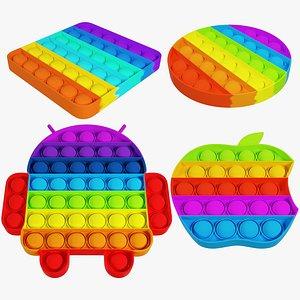 Pop It Collection V1 3D model