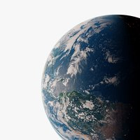 Photorealistic Earth planet