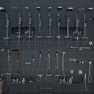 3D shower cosmetics