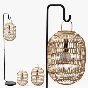 3D model Bori Natural Lantern Set