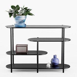 3D model Dallas Modern Storage Shelf