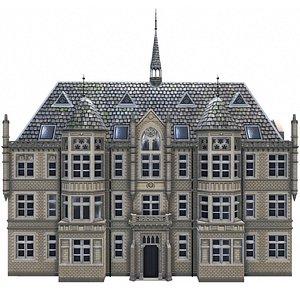 3D model 19th building architecture