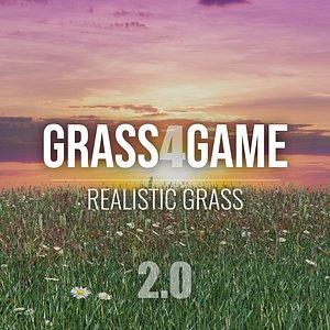 3D Grass4Game - Blender and FBX model