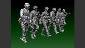 3D soldier officer