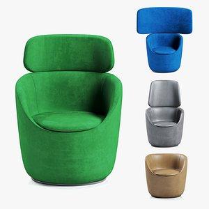 3D armchairs radar casamania set
