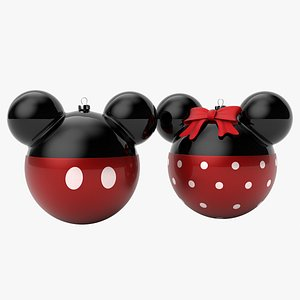mickey minnie mouse christmas balls 3D model