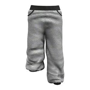 Ladies Baggy Sweatpants 3D