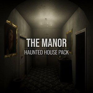 3D manor - haunted house model
